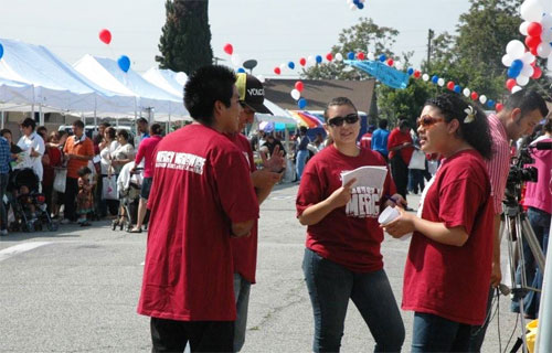 The disciples - MERCYworldwide ambassadors - serve at the Community Awareness Day at Washington Elementary School located in the heart of South Central LA!